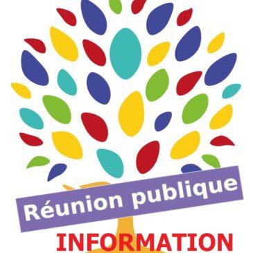 Réunion publique – information